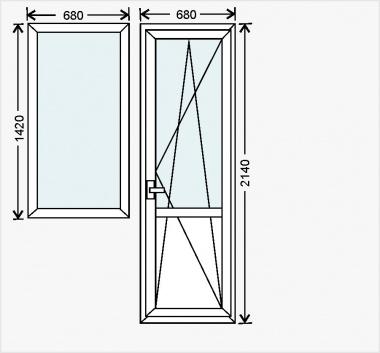 Балконный блок в дома 137 серии